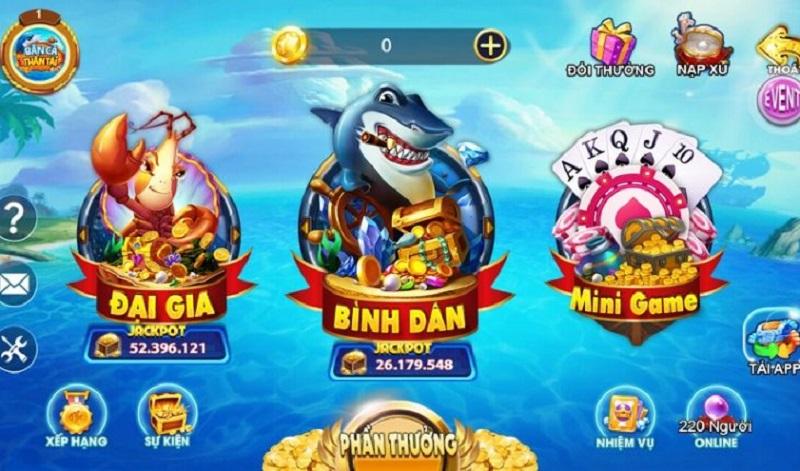 cổng game Bắn Cá Thần Tài