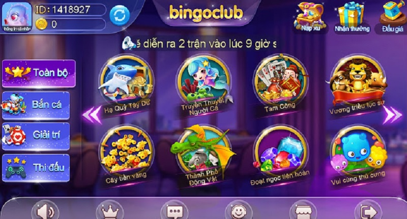 cổng game Bingo Club